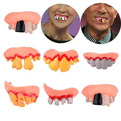 Hosenträger Kostüm Zähne - Prevently Halloween Requisiten 8 STÜCKE Bob