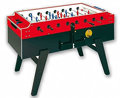 Football Table Garlando Master Cup with Coin Slot, Glass Cover and Anti-theft Feed