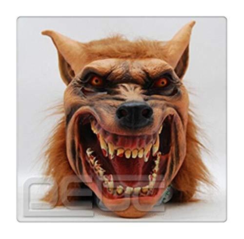 Z-one 1 Blutende Zähne, Gnollkopf gruseliger Mund, Spukhaus, Requisiten für Halloween, Latex, Tierkopfmaske für Kostümparty