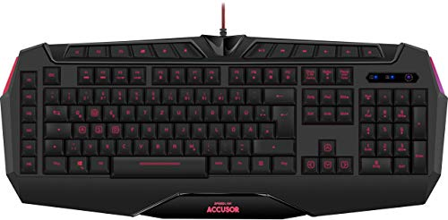Speedlink Gamer Tastatur für PC / Computer - Accusor Advanced Gaming Keyboard USB schwarz (Generalüberholt) (Video-editor Tastatur)