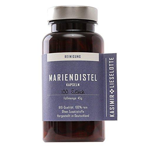 MARIENDISTEL KAPSELN MIT SILYMARIN - 100 Stück - frei von Pflanzenschutzmitteln oder anderer chemischer Zusätze