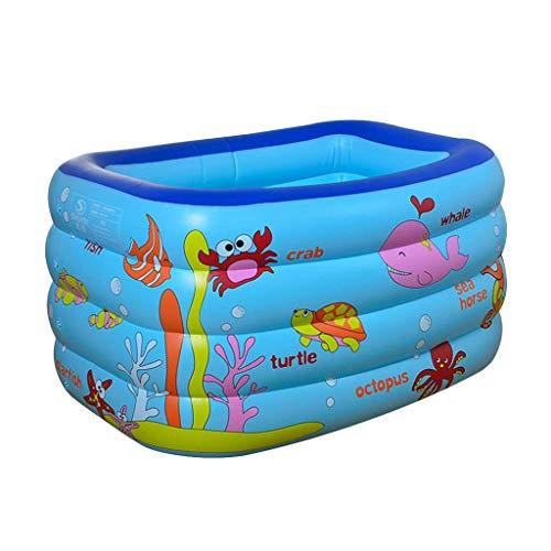 LXQGR Aufblasbares Schwimmbecken, Family Pool Schwimmbad Swimming Pool Mit Flicken-Reparaturkit, Umweltfreundliches PVC und BPA-Freie Konstruktion,130 * 85 * 70Cm