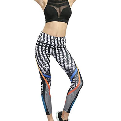 LafyHo Frauen Laufhose Sport Fitness Yoga-Hosen-beiläufige Outfit Druckmuster