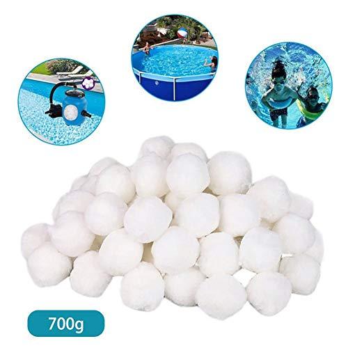 yummyfood 700g Pool filterkugeln, Pool Filter Fiber Ball Filterbälle poolfilter Balls Ausrüstung zur Reinigung von Schwimmbädern Umweltfreundliche Pool Filter Sand für Pool Sandfilteranlagen (Lbs Sand Pool 50 Filter)
