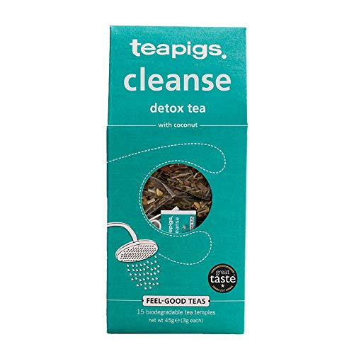 Teapigs Cleanse With Coconut Herbal Tea Bags Made With Whole Leaves (1 Pack of 15 Tea Bags)