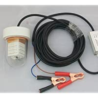 Sumergible LED lámpara de pesca de peces Atractor luz nocturna buscador de peces resistente al agua 12–24V 25W, Verde