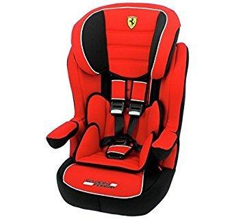 mycarsit–Siège auto Ferrari groupe 1/2/3de 9à 36kg–Fabrication 100% française–3étoiles Test TCS–protecciónes latérales–Repose têtes à bulles et ajustable.