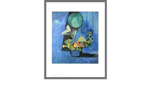 Henri Matisse Stilleben mit Blumen und Keramik Poster Kunstdruck mit Alu Rahmen