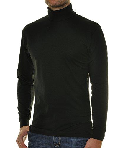 RAGMAN Rollkragen Pullover Baumwoll-Jersey 3XL, Schwarz-009 (Pullover Jersey)