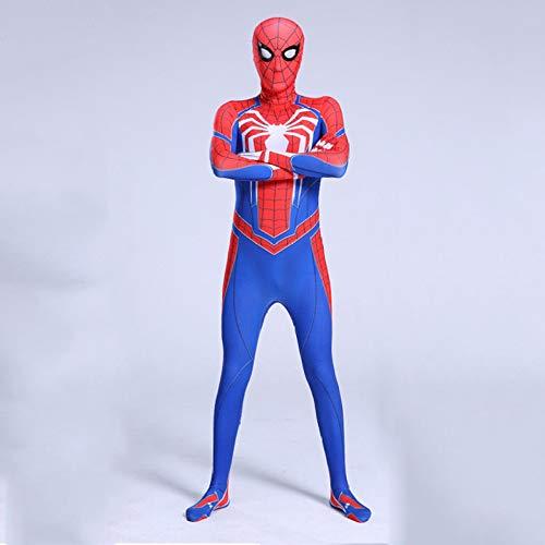 derman Kostüm Cosplay Siamesische Strumpfhose Kinder Erwachsene Superman Battlesuit Movie Requisiten Dress Up Dress Up Dress Party,Blue-140 ()