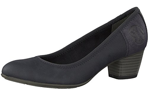 s.Oliver Damen Pumps 22408-21,Frauen Pumps,Modisch,Sportlich,Bequem,Court-Shoe,Freizeit,Business,Sommerschuh,Soft Foam Decksohle,Blockabsatz 4cm,Navy Comb,EU 40
