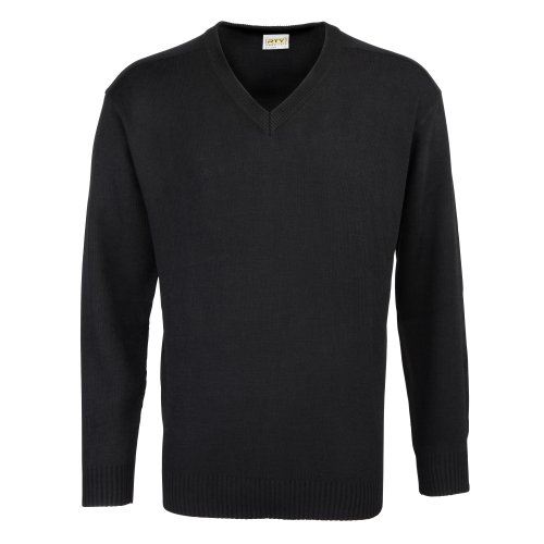 Preisvergleich Produktbild RTY Workwear Herren Acryl-Pullover mit V-Ausschnitt (2XLarge) (Schwarz)