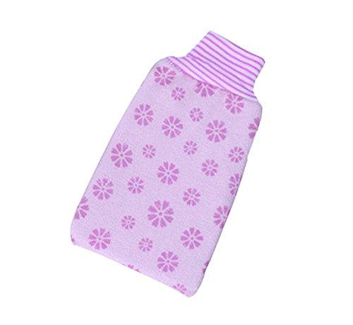 Lila Einzelbett (Drucken Einzelbett Handtuch Peeling Tuch, Lila)