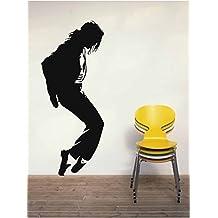 Vinilo Decorativo Michael Jackson 1.(144x60cm aprox.) color negro.