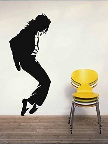 Vinyl-Aufkleber, Michael Jackson 1,Maße ca. 144x60cm,Schwarz (Avery Dennison Vinyl)