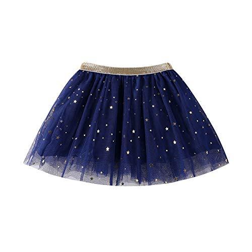 Livoral Mädchen Mode Tutu Mode Baby Kinder Prinzessin Star Pailletten Party Dance Kostüme(Marine,130)