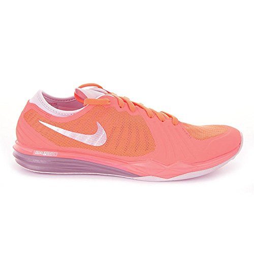 Nike W Dual Fusion TR 4, Chaussures de Gymnastique Femme Orange - Naranja (Brght Mng / Mtlc Pltnm-Hypr Orng)