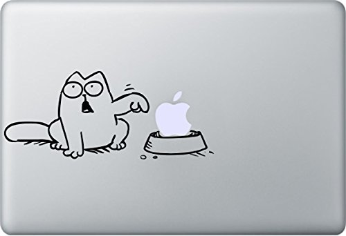 Apple MacBook Air Pro Sticker Aufkleber Cat Katze