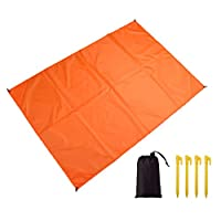 Xinyanmy Pocket Picnic Blanket,Foldable Beach Blanket Portable Lightweight Waterproof Sandproof for Beach Outdoor Travel Camping Hiking,Size 140x150cm