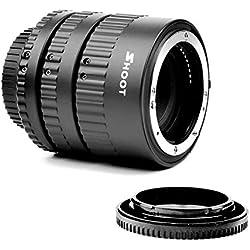 SHOOT Macro Extension Tube Set pour Nikon D3 D3s D1 D1x D7200 D7100 D7000 D5300 D5200 D5100 D5000 D3100 D3400 D3300 D3000 D800E D800 D700 D600 D610 D300s D90 D80 D70s D60 avec Auto Focus appareil photo