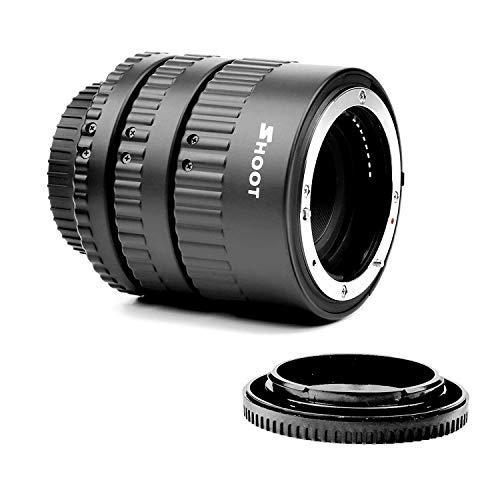 Slr-extension Tube (SHOOT Automatik Zwischenringe 12mm 20mm 36mm für Makrofotographie für Nikon D3000, D3100, D3200, D3300, D5000, D5100, D5200, D5300, D7000, D7100,etc)
