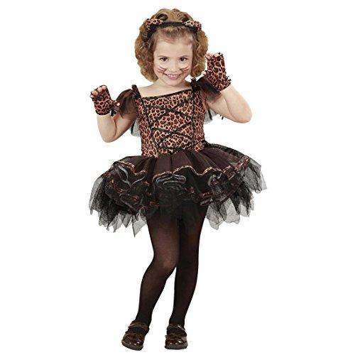 Amakando Tutu Katzenkostüm Kinder Leopardenkostüm Mädchen 110 cm 3-4 Jahre Leoparden Tütü Kinderkostüm Ballerina Kostüm Leopard Karnevalskostüme Katze Ballett Tierkostüm Katzen Kleid