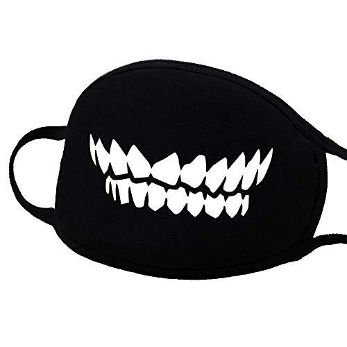 Halloween Masken Karneval Maske Anime-Baumwollmaske, Niedliche Unisex Anti Staub Gesichts Mund Maske für Kinder Teenager Männer Frauen Halloween Zahn Bären Muster Maske für Halloween Karneval Party Co (Niedliche Kostüm Teenager)