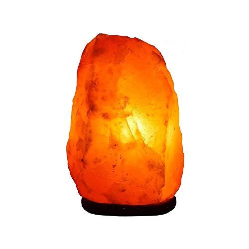 HHCC Crystal Salt Table Schreibtischlampen Night Light Natural Pink Himalaya Steinsalzlampe Verbessern und fördern den Schlaf 1-2kg mit Holzsockel
