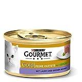 Purina GOURMET Gold Feine Pastete, hochwertiges Katzennassfutter, Tiernahrung, mit Gemüse, für anspruchsvolle Katzen, 12er Pack (12 x 85 g Dose)