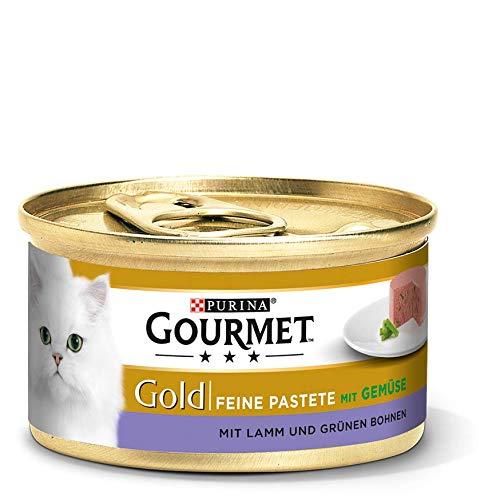 Gourmet Gold Katzenfutter Feine Pastete mit Lamm und grünen Bohnen 85 g
