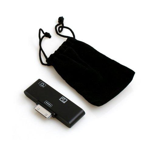 System-S CF SD Karten Adapter für Apple iPad 1 2 3 / Compact Flash Card Reader CF Kartenleser für DSLR Kamera (Cf-card Reader Für Ipad)
