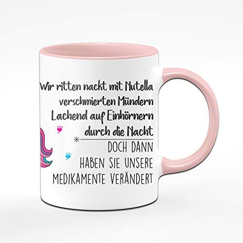 Tassenbrennerei Einhorn Tasse mit Spruch - Vorne Spruch, hinten Einhorn - Tassen mit Sprüchen...