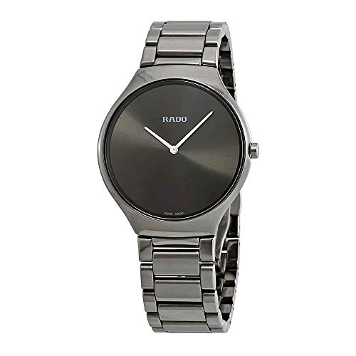 Rado True Thinline Femme 39mm Bracelet Céramique Gris Quartz Montre R27955122