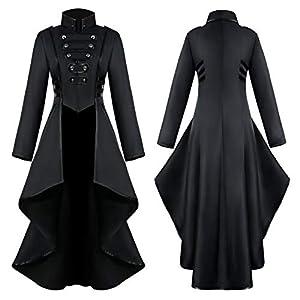 WINLISTING Frauen Gothic Steampunk Button Lace Korsett Halloween Kostüm Mantel Frack Jacke