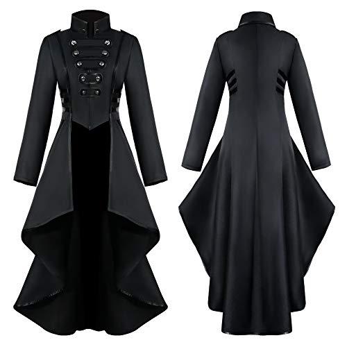 Kostüm Nette Boxer - TianranRT Frauen Mantel,Fashion Steampunk Gothic Jacke Mit Spitze,Spitzenkorsett,Halloween Kostüm,Mantel,Schwanz Jacke,Schwarz(XXL)