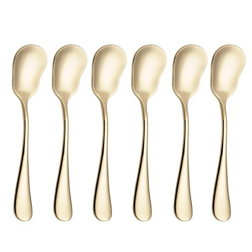 20Besteck Besteck Set Service für 4Edelstahl Besteck Geschirr u.a. Messer Gabel Löffel Spülmaschinenfest Gold1 6 pcs Sugar Spoon Gold1 6 pcs Sugar Spoon Pc Edelstahl-besteck-set