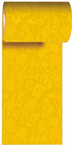 Preisvergleich Produktbild Duni Tischband aus Dunicel Damast-Druck gelb, 15 cm x 20 m