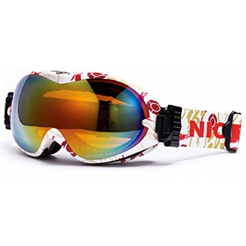 1024 Brille (SE7VEN -schutzbrillen für den wintersport,Dual-layer- Anti-beschlag Sphärische Panorama Skibrille Unisex Klettern Brille Otg-K)