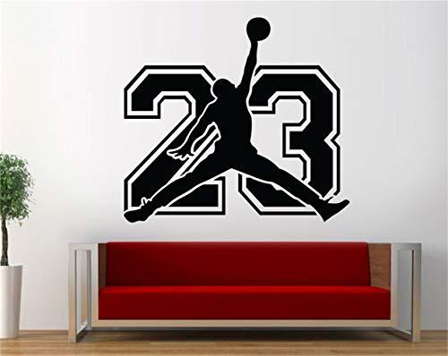 Wandtattoo Wohnzimmer Michael Jordan 23 Basketball Schlafzimmer Jordan Wall Art Decor für Wohnzimmer für Kinderzimmer Kinderzimmer für Schlafzimmer