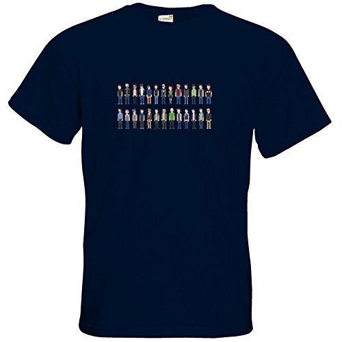getshirts - Rocket Beans Classic - T-Shirt - Retro Collection - Pixelbohnen Navy