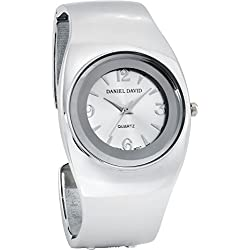 Daniel David Women's | Stylish Silver-tone Bangle Watch | HA0468