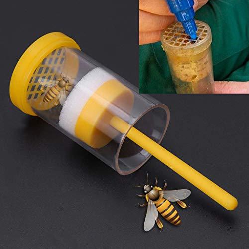 Webla 1Pcs Ausrüstung Bee 'Queen Bee Marker D' Imker Flaschenhalter Markierung mit weichem Kolbenwerkzeug D 'Imkerei 9.5X4.5X4.5Cm - Gelb