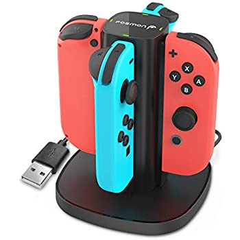 Fosmon Nintendo Switch Joy-Con Charging Dock, 4-in-1 High