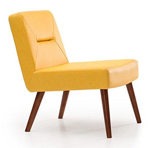 ERRU-Chaises Chaises de salle à manger en bois massif nordiques Salon Bureau Canapé de café Chaises de dossier de loisirs (59 * 59 * 74CM, couleur en option) ( Couleur : Le jaune , taille : 6 Pieces )
