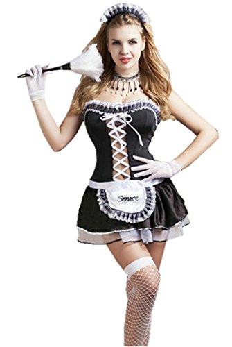 6Moon Dienstmädchen Hausmädchen Zimmermädchen Kostüm 7 teilig (Kostüm Hausdame)