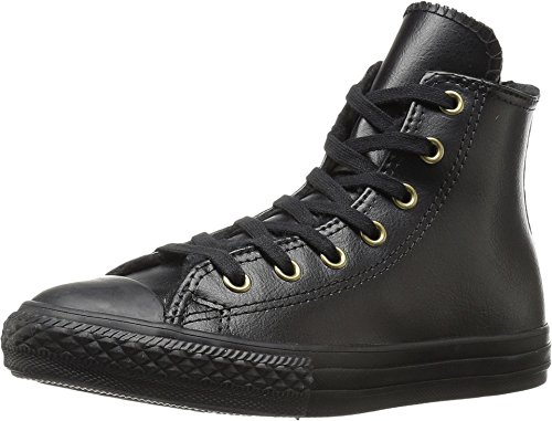 Converse Chuck Taylor All Star Boot High Sneaker Kinder 1 US - 32 EU (Schwarze Leder-high-top Converse)
