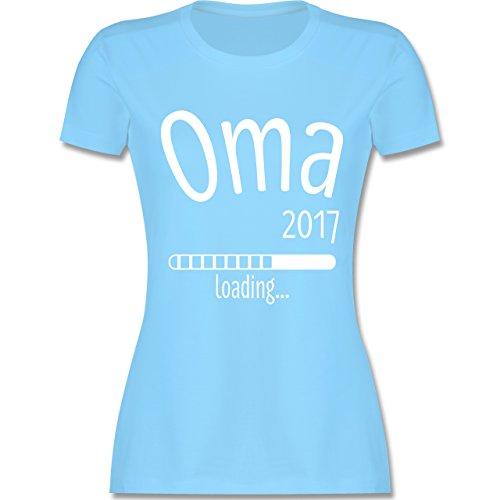 Oma - Oma 2017 loading - tailliertes Premium T-Shirt mit Rundhalsausschnitt für Damen Hellblau