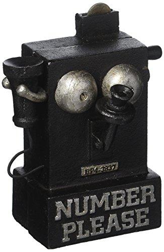 Design Toscano Ihre-Nummer-Bitte, Spardose in Form eines altertümlichen Telefons