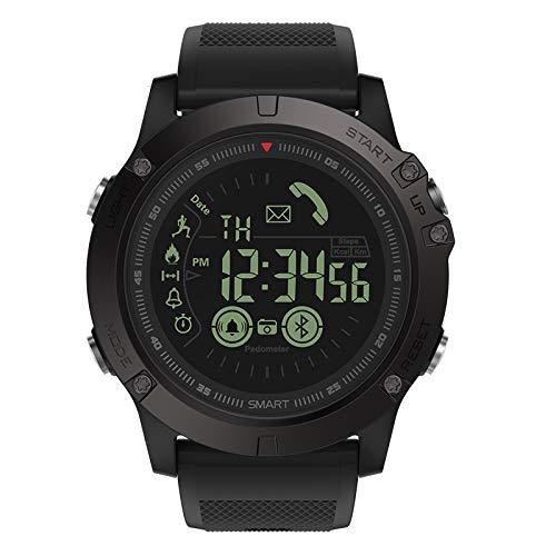 ZTGL Smart Watch Intelligente Aktivitäts Uhr Musiksteuerung Pulsmesser Schlafmonitorfitness Tracker Blutdruckmessung Schrittzähler Farbbildschirm Mit IP68 Wasserdicht Für Android Ios,Schwarz