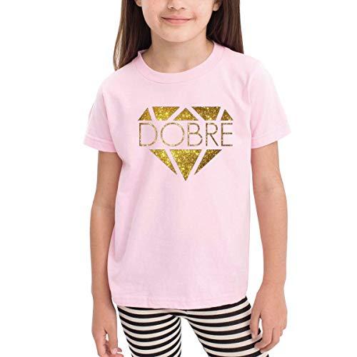 Kinder Jungen Mädchen Shirts Dobre Brothers T Shirt Kurzarm T-Shirt Für Kleinkind Jungen Mädchen Baumwolle Sommer Rosa 5/6 T -